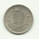 1944 #1  Unc.  Silver 1/4 Rupee from India.