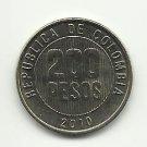 2010 #1 Gem Bu Colombian 200 Peso Coin