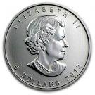 2012 Gem BU One Troy Oz. Canadian $5 Commedmorative Coin