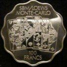 Monte-Carlo Casino Limited Edition PROOF 100 FRANCS
