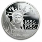 1986 French Gem BU Silver 100 Francs Statue of Liberty Commemorative