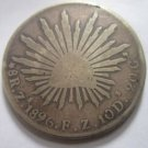 1896-Zs. F.Z. #1 MEXICAN SILVER 8 REALES.