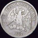 1897-Zs Z  #1  Mexico Silver 5 Centavos