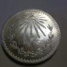 1943 #6 Unc.  Mexican Un Peso Silver Dollar.