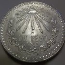 1945 #3  Unc.  Mexican Un Peso Silver Dollar.
