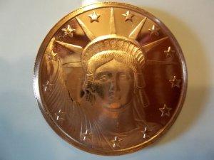 2011 Unc. One Oz. .999 Copper Liberty Head Coin