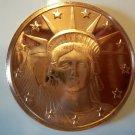 Gem BU 2012 Statue of Liberty  Design One  OZ.  Copper
