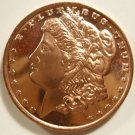 Gem BU 2012 Morgan Design One  OZ.  Copper Bullion Coin