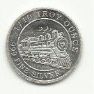 UNC. 1/10 Troy Oz. .999 Fine Silver Train Coin