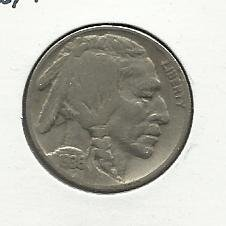 1936 #12 Buffalo Nickel.