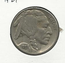1937 #21   Buffalo Nickel