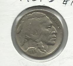 1937-D #10  Buffalo Nickel