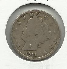 "1911 #7  Liberty ""V""  Nickel"