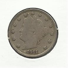 "1911 #14  Liberty ""V""  Nickel."