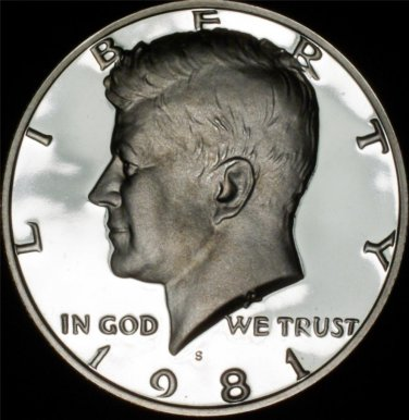 1981-S Type II Gem Proof Deep Mirror Cameo Kennedy Half Dollar