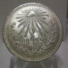 1943 #14 Unc.  Mexican Un Peso Silver Dollar