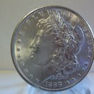 1888 #1 AU/BU 90% Silver Morgan Dollar.