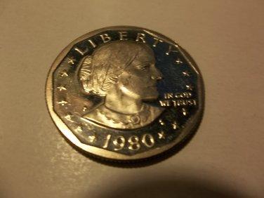 1980-S #1 Proof SBA Dollar.