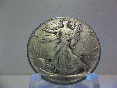 1945  #2  90% Silver Walking Liberty Half Dollar