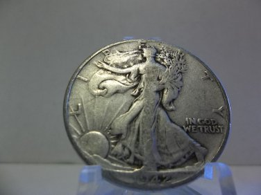 1942 #3 90% Silver Walking Liberty Half Dollar.