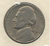1956-D #1 Jefferson Nickel.