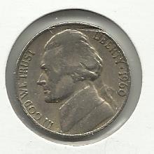 1960-D #1 Jefferson Nickel.