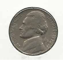 1970-S #1 Jefferson Nickel.