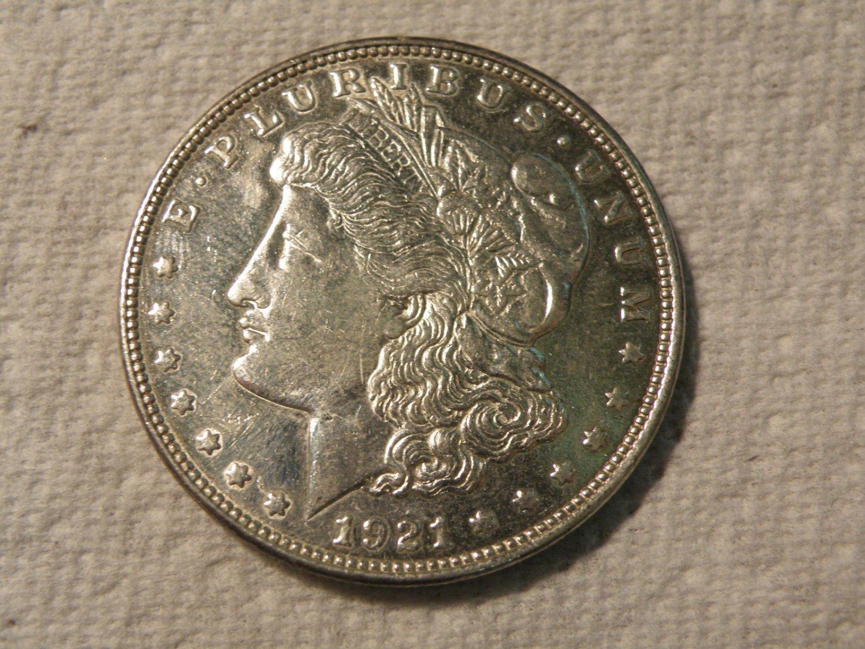 1921 Proof Like  #4  90% Silver  Morgan Dollar.