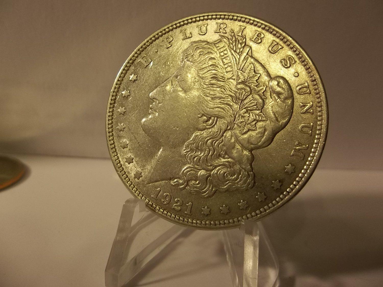1921 #7  90% Silver  Morgan Dollar