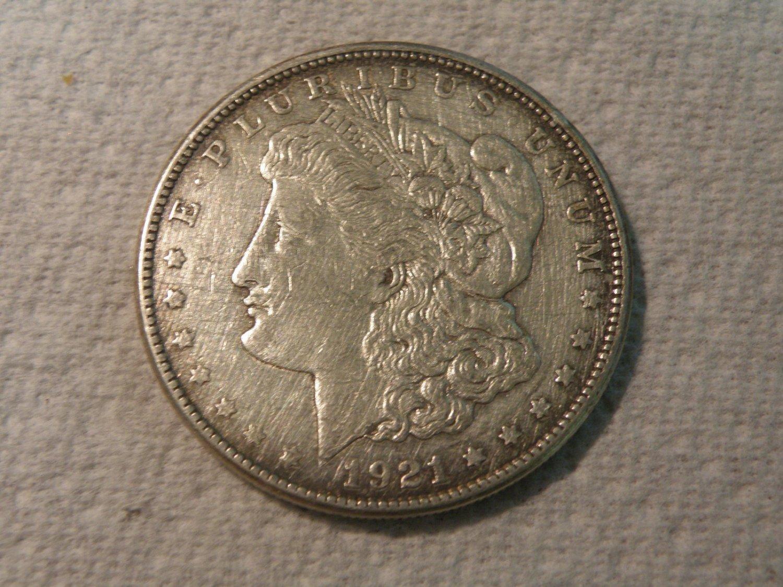 1921-S #2  90% Silver  Morgan Dollar.