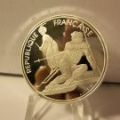 XVI WINTER OLYMPIC GAMES 1990 France Silver Proof 100 Francs - 1992 Winter Olympics - Skiing