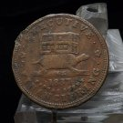 1837 Executive Experiment Hard Times Token
