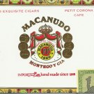 "5.5"" x 8"" ""MACANUDO"" Cigar Box with Imported  Tax Stamp"