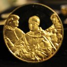 1979 Franklin Mint Gold/Sterling Silver PORTRAIT OF LEO X AND 2 CARDINALS Raphael Medals