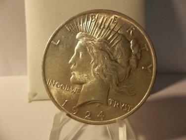1924 #3   Peace 90%  Silver Dollar.