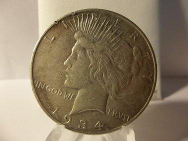1934-D #1   Peace 90%  Silver Dollar