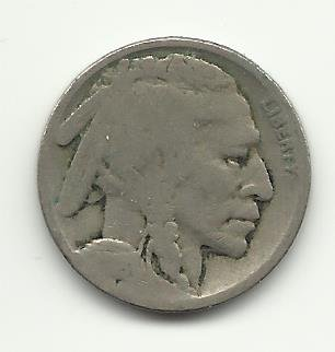 1918-S #9 Buffalo Nickel.