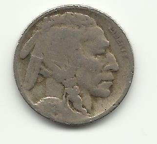 1924 #7 Buffalo Nickel.