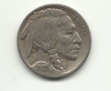 1928-S #1 Buffalo Nickel with 1/2 horn.