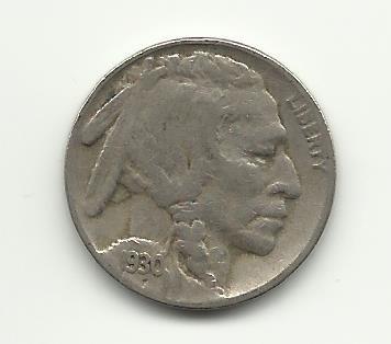 1930-S #4 Buffalo Nickel.