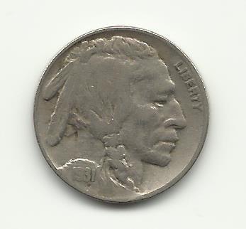 1931-S #2 Buffalo Nickel with 3/4 horn.