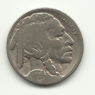1935 #33 Buffalo Nickel.