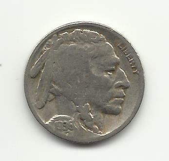 1936-S #8 Buffalo Nickel with 1/4  horn.