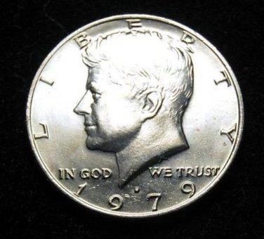 1979-D  AU  Kennedy Half.