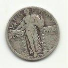 1929 #4 90% Silver Standing Liberty Quarter.