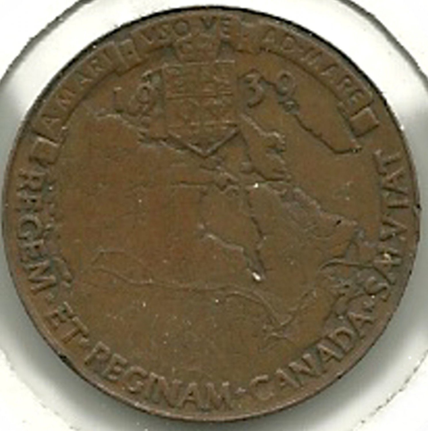 Royal Visit Medallion - George VI 1939 CANADA TOKEN #3.