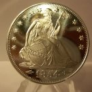 1854 BU Seated Liberty 1 OZ Silver