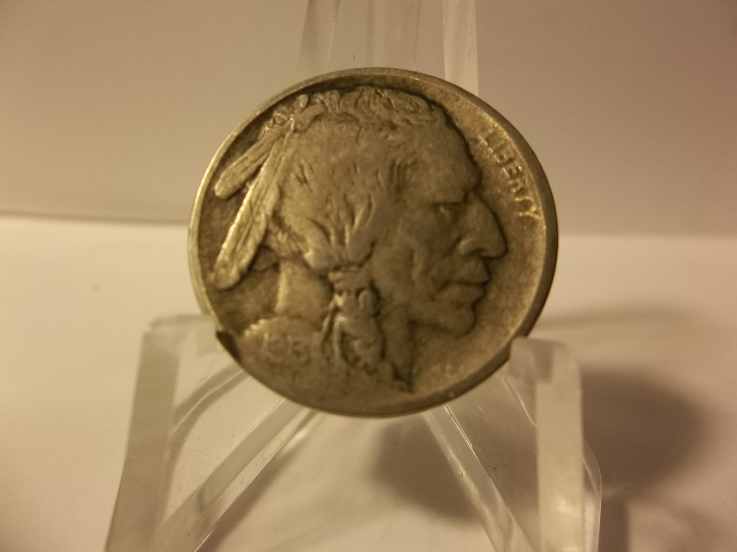 1913 TY-2 #3 Buffalo Nickel with almost full horn