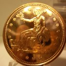 Gem BU Sitting Liberty- One AVDP OZ. .999 Pure Copper Bullion Coin
