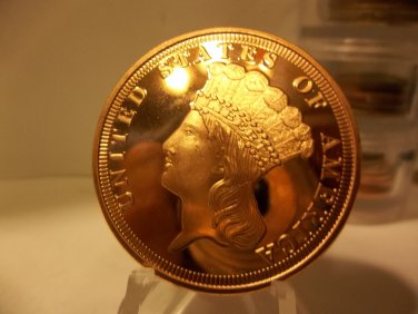 Gem BU Version of A Indian Head Cent- 1 Oz. Copper Bullion Coin